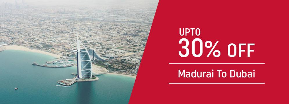 off on Madurai to Dubai Flight